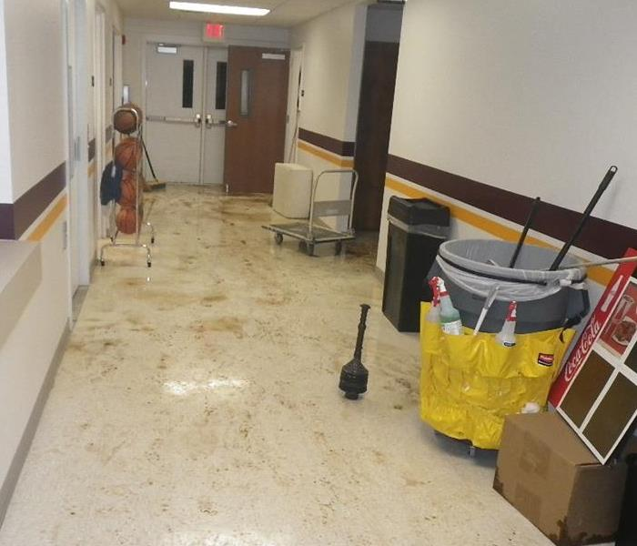 Flooding of Local School in Charleston, WV Before