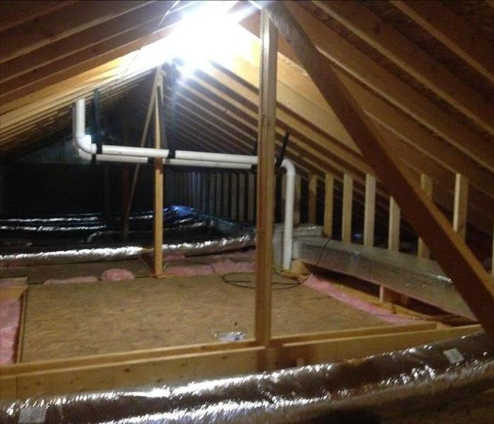 Attic fire restoration and construction put back. After