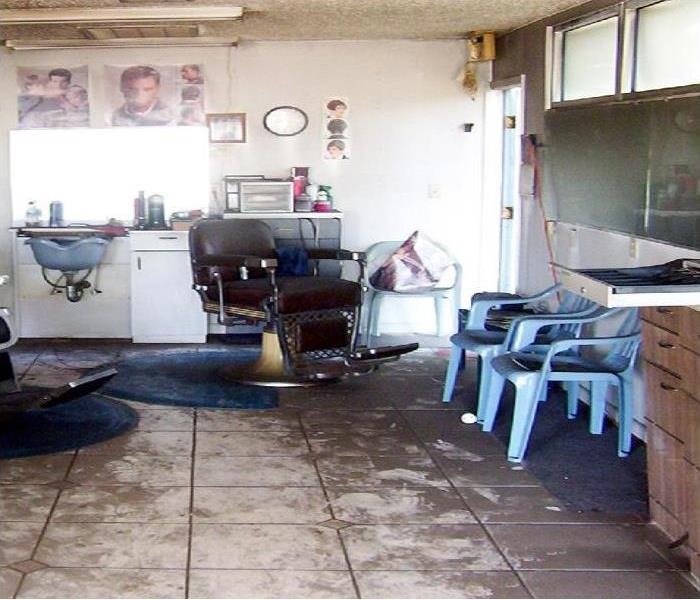 Fire Damage to a local barbershop. Before